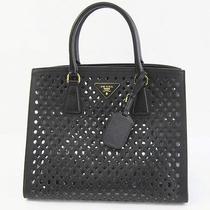 Auth Prada Tote Bag Saffiano Embossed Calf Leather Black Bn2624 118783 Photo