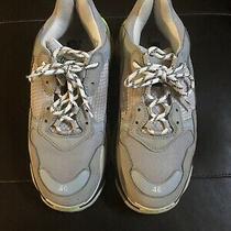 Auth Pre-Own Mens Balenciaga Triple S Gray Oversized Athletic Sz 13 (Eu 46) Photo