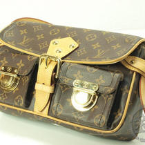 Auth Pre-Owned Louis Vuitton Lv Monogram Hudson Pm Shoulder Bag Purse M40027 Nr Photo