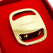 Auth Salvatore Ferragamo Scarf Ring Pendant Top Gold Tone Italy 17110187200 6 Photo