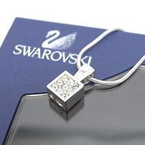 Auth Swarovski Necklace Pendant Crystal 0 Shipping Silver Tone 25120209500 630b Photo