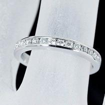 Auth Tiffany & Co. Channel Set Band Ring Diamond /0.17ct(m 25.7.24) Photo