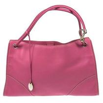Auth Tod's Logos Shoulder Tote Bag Pink Silver Leather Vintage Italy Kr00209 Photo