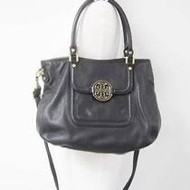 Auth Tory Burch Black 'Amanda Hobo Satchel Crossbody 485 Photo