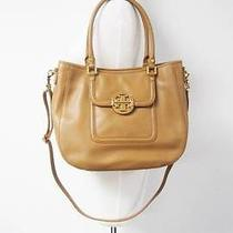 Auth Tory Burch Royal Tan 'Amanda Hobo Satchel Crossbody 485 Photo
