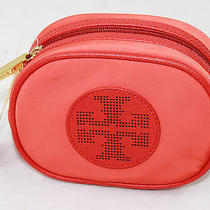 Auth Tory Burch Women  Orange Billie Small Classic Cosmetic Bag Photo