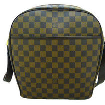 Auth. Used Louis Vuitton Lv Brown Damier Leather Ipanema Shoulder Bag Photo