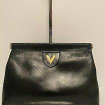 Auth Valentino Black Clutch Bag Photo