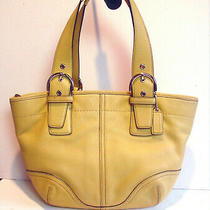 Auth Vintage Coach Soho Yellow Leather Purse/hobo/shoulder Bag  9544--Very Rare Photo