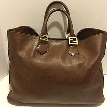 Auth Vintage Fendi All Leather Tote From My Personal Collection - Very Nice Photo