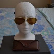 Auth Vintage Ray Bans b&l Aviator Sunglasses Gold Frame Excellent Cond Case Photo