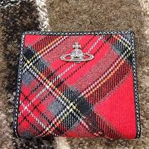 Auth. Vivienne Westwood Derby Tartan Bifold Wallet/purse Made in Italy Photo