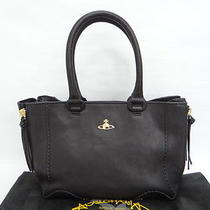 Auth Vivienne Westwood Tote Hand Bag Leather Black 0 Shipping 10120737900 114b Photo