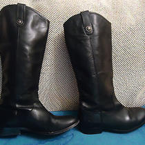 Auth Women Frye 'Melissa Button' Black Leather Boot Sz 8 1/2 B Photo