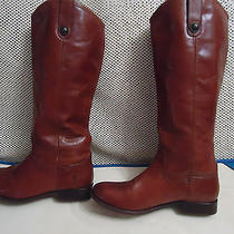 Auth Women Frye 'Melissa Button' Brown Leather Boot Sz 10 B Photo