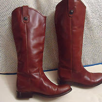 Auth Women Frye 'Melissa Button' Brown Leather Boot Sz 6 1/2 B Photo