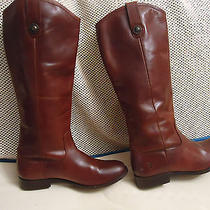 Auth Women Frye 'Melissa Button' Brown Leather Boot Sz 7 B Photo