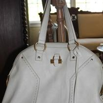 Auth. Ysl Yves Saint Laurent Muse Dome Leather Large Tote Bag Handbag--Ivory Photo