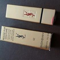 Auth Ysl Yves  Saint Laurent Rough Pur Couture 52 Pure Colour Lipstick 3.8g Photo