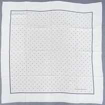 Auth Ysl Yves Saint Laurent Scarf Gray Silk Rhombus Japan 98110027500 2146 Photo