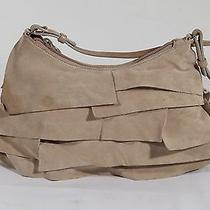 Auth Yves Saint Laurent Ivory Suede Ruffle Bag Hobo Shoulder Bag Tv Photo