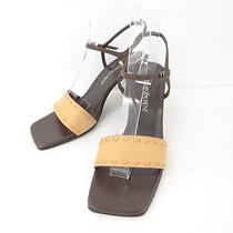 Auth Yves Saint Laurent Ladies Sandal Mules 37 Free Shipping 23120146500 710b Photo
