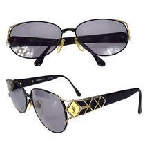Auth Yves Saint Laurent Ysl Sunglasses Eye Wear Plastic Metal Bk Vintage 00k068 Photo