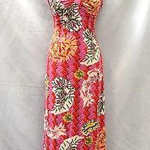Auth Zac Posen for Target Safety Pin Print Back Keyhole Cutouts Maxi Dress Sz M Photo