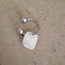Authenic Cartier Double C Sterling Silver Key Ring or Ball Chain Photo