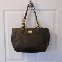 Authenic Coach Dark Brown Luxurious Leather Handbag Nwot 15740 Final Reduction Photo