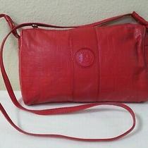 Authenic Fendi Vintage Red Leather Crossbody Shoulder Bag Italy Unique Photo