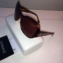 Authenic Versace Dark Brown Sunglasses New Photo