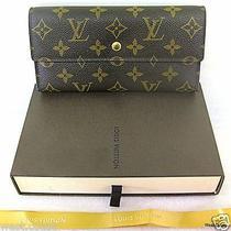 Authentc Louis Vuitton International Wallet Purse Monogram Leather Canvas France Photo