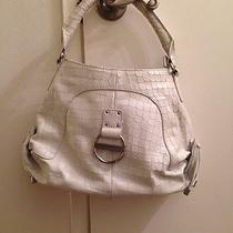 Authenthic Charles David White Leather Hobo Bag/purse Croc Pattern W/ Dust Bag Photo