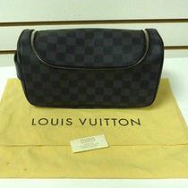 Authentic 100%  Louis Vuitton Toiletry Pouch Damier Graphite N47625 (Ba4103) Photo