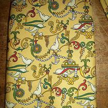 Authentic 100% Silk Salvatore Ferragamo  Dolphins Yellow Tie Photo