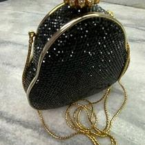 Authentic 2000 Judith Leiber Swarovski Black Crystal Pearl Evening Bag Clutch Photo