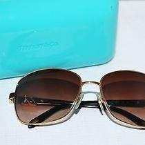 Authentic 400 Tiffany & Co. Gold Aviator Fashion Sunglasses Made in Italy  Photo