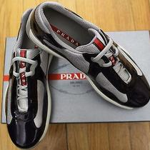 Authentic 550 Prada Calzature Uomo Uvaargento Vernicebike Sneakers Sz 6/ 7us Photo