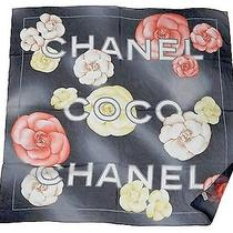 Authentic 605 Coco Chanel Italy Scarf 100% Silk 34