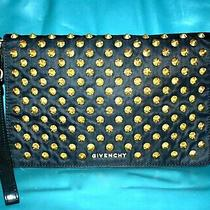 Authentic and Very Cool Givenchy Gold Studs  Clutch/ Hand Bag Photo