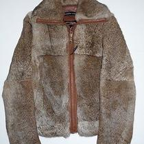 Authentic Andrew Marc Rabbit Fur Leather Trim Insulated Jacket Coat 4 6 M 895  Photo