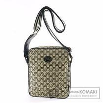 Authentic Anya Hindmarch Canvas Enamel Shoulder Bag   Ribbon Design Seat Angle Photo