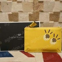 Authentic Anya Hindmarch Eyes Pouch Loose Pocket Wallet - Yellow Photo
