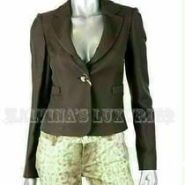 Authentic Armani Collezioni Jacket Blazer Dark Brown Cotton Blend Sz It 40 Us 4 Photo