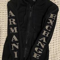 Authentic Armani Exchange Zip-Up Black Hoodie Sweatshirt Size Large Luxury Photo