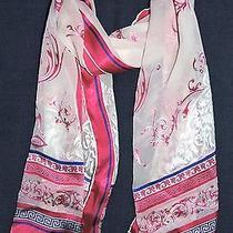 Authentic Atelier Versace Pink Blue Baroque  56