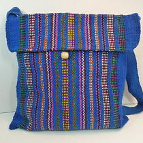 Authentic Atlantic Blue With Alternate Colors Thread Peruvian Cross Body Tote Photo