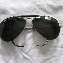 Authentic Aviator Style Ray-Ban Black Eye Sunglasses W/ Case Box  Photo