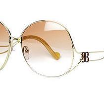 Authentic Balenciaga Antique Curved Metal Fade Lens Women's Sunglasses Bal0126 Photo